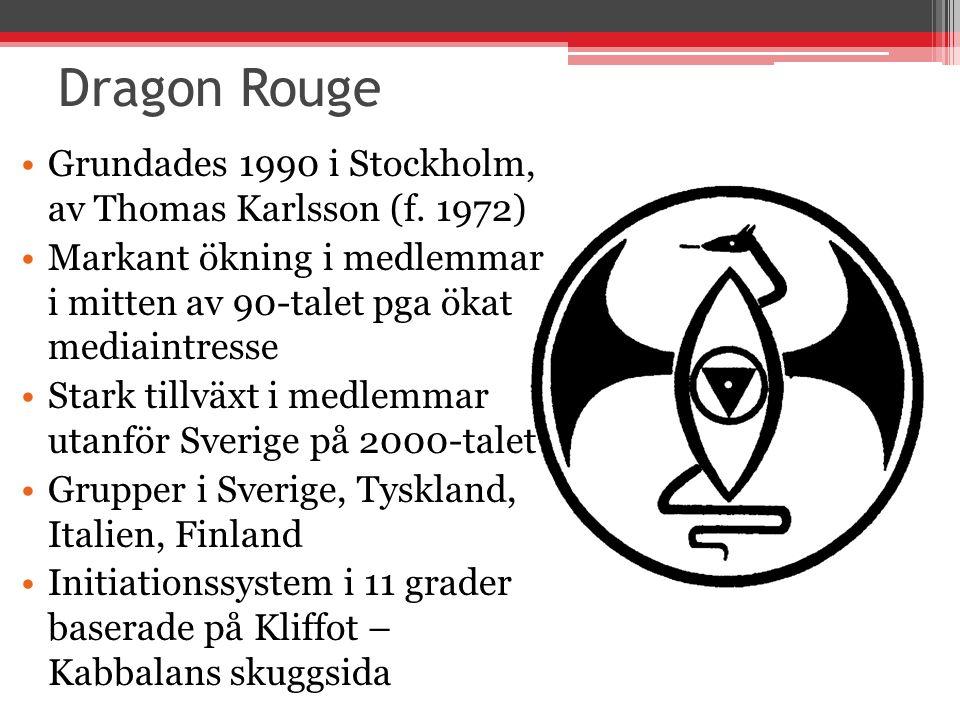 Dragon Rouge Grundades 1990 i Stockholm, av Thomas Karlsson (f.