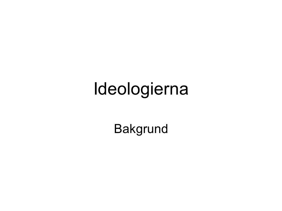Ideologierna Bakgrund