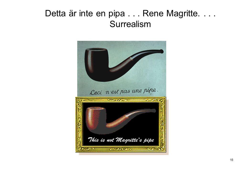18 Detta är inte en pipa... Rene Magritte.... Surrealism