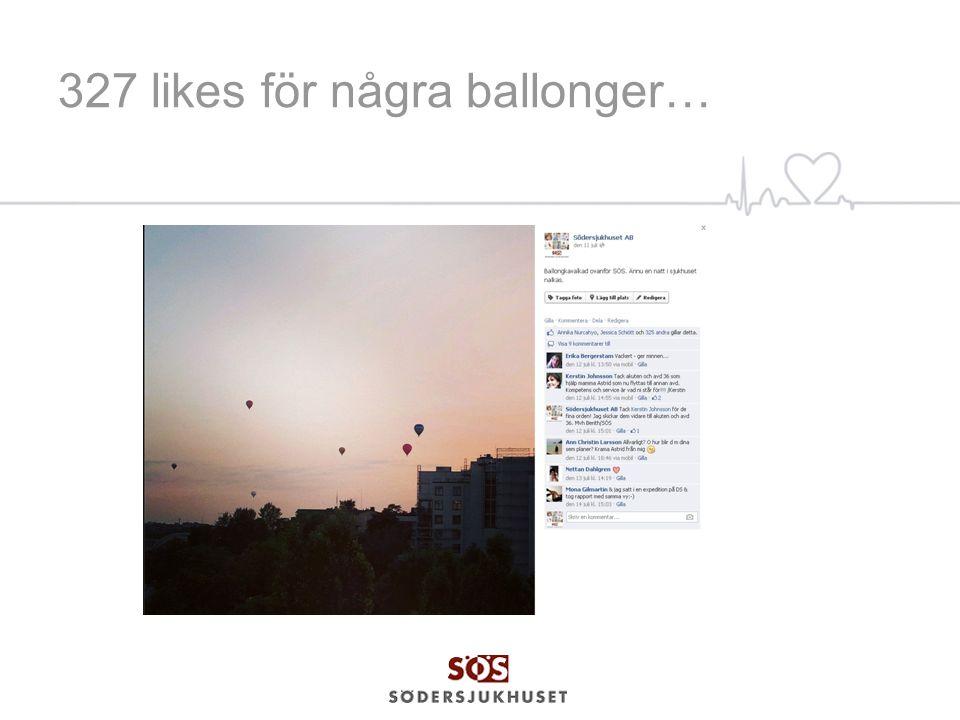 327 likes för några ballonger…