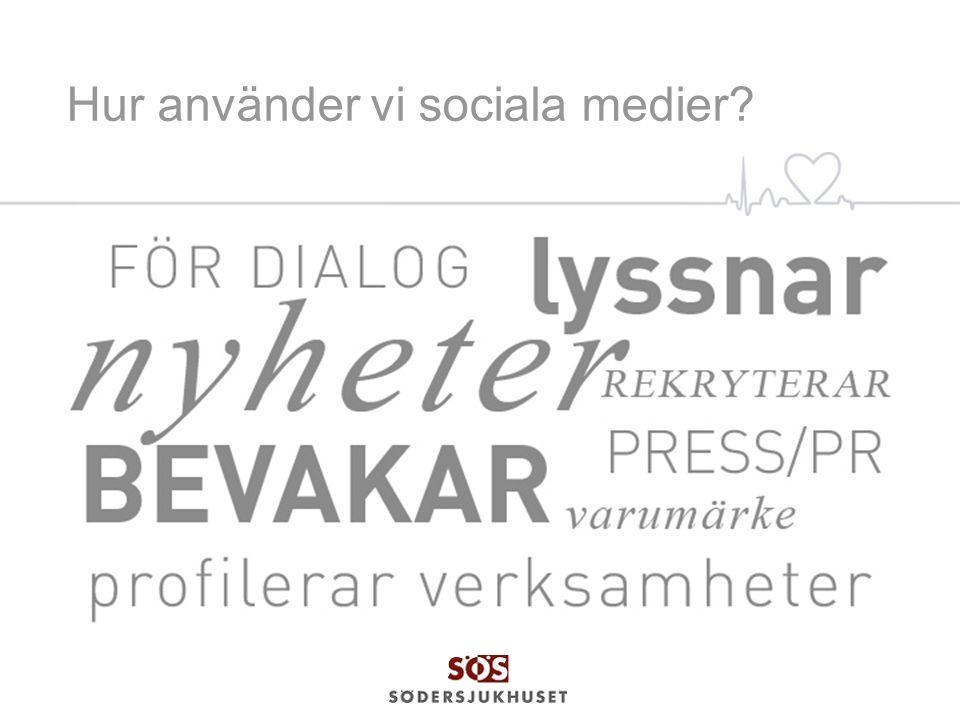 Hur använder vi sociala medier?