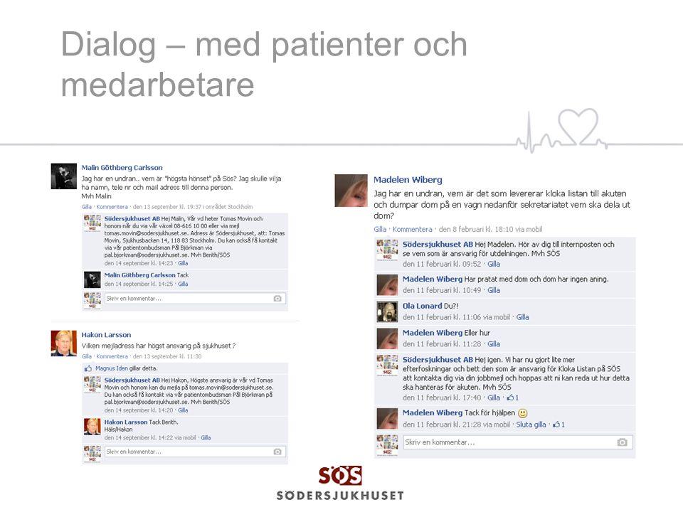 Dialog – med patienter och medarbetare