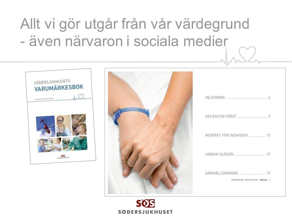 SÖS närvaro i sociala medier FaceBook – lanserades 2010, kommunikationsavdelningen hanterar kontot.
