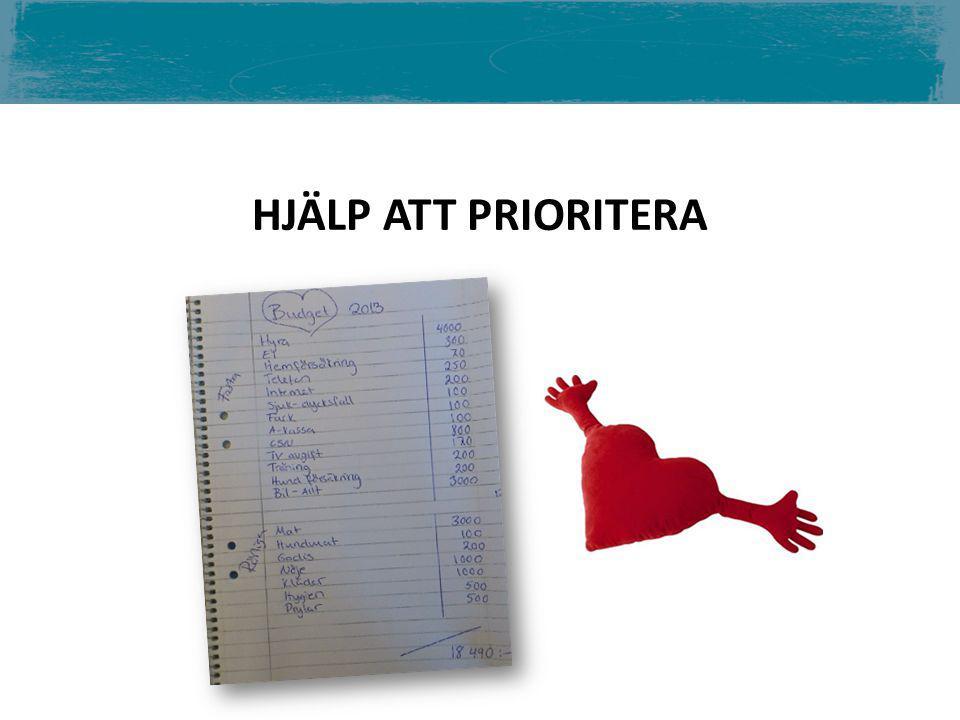 HJÄLP ATT PRIORITERA