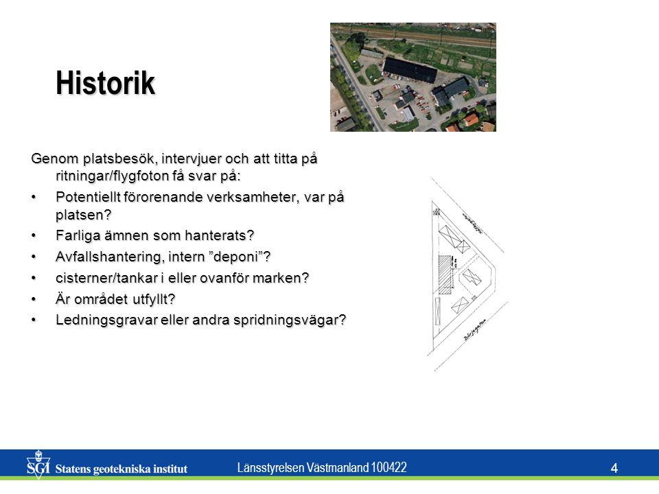 Länsstyrelsen Västmanland 100422 5 Potentiella föroreningar Viktigt för val av provtagnings- och analysmetoderViktigt för val av provtagnings- och analysmetoder Vilken förorening kan förväntas?Vilken förorening kan förväntas.