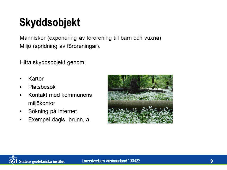 Länsstyrelsen Västmanland 100422 10 Konceptuell modell Utifrån historik, geologi, hydrogeologi och skyddsobjekt kan en konceptuell modell sättas upp.