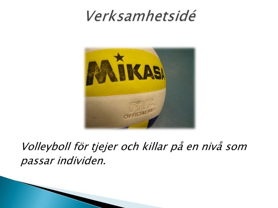 Volleyboll för tjejer och killar på en nivå som passar individen.