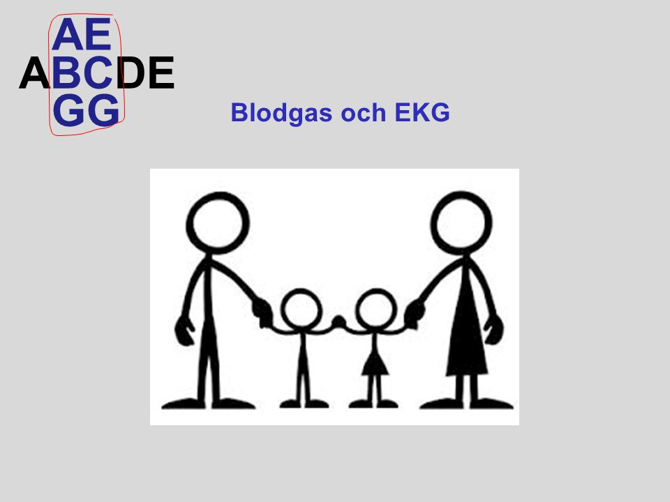 ABCDE AEAE GG Blodgas och EKG