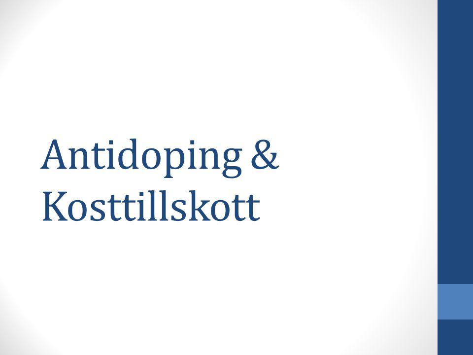Antidoping & Kosttillskott