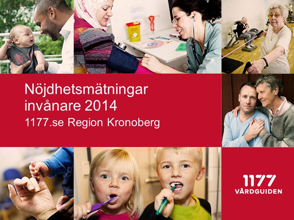 Nöjdhetsmätningar invånare 2014 1177.se Region Kronoberg
