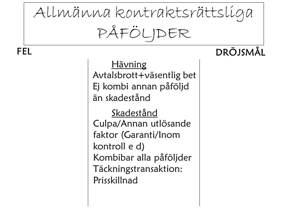 Skadetyper - PERSONSKADAPerson.Plagg o d. Följdskada (ex inkomst- förlust) - SAKSKADAEgendom.