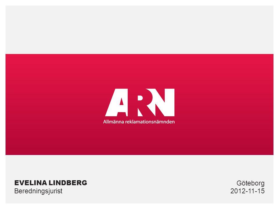 EVELINA LINDBERG Beredningsjurist2012-11-15 Göteborg