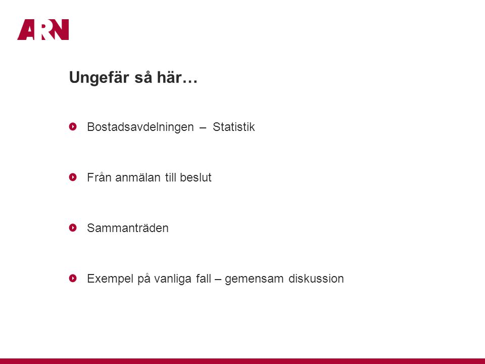 Klassificering av ärenden, bostad Avseende hantverkstjänster Golv / Målning VVS / El Övrigt (t.ex.