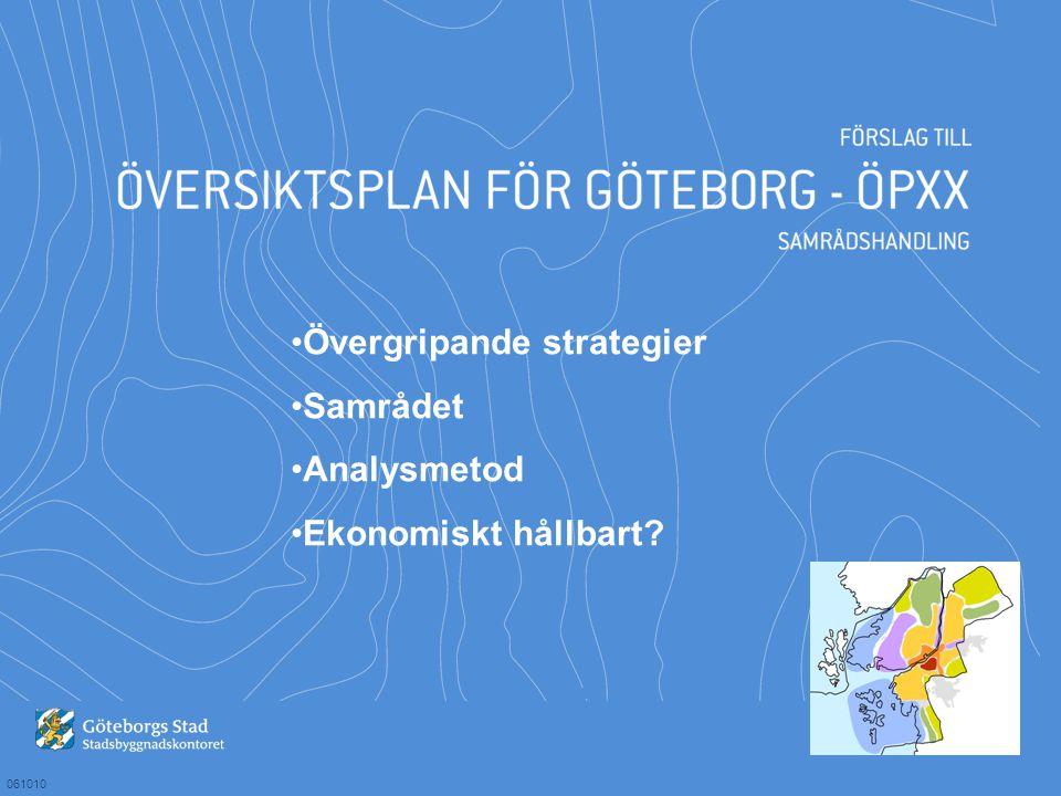 061010 Övergripande strategier Samrådet Analysmetod Ekonomiskt hållbart