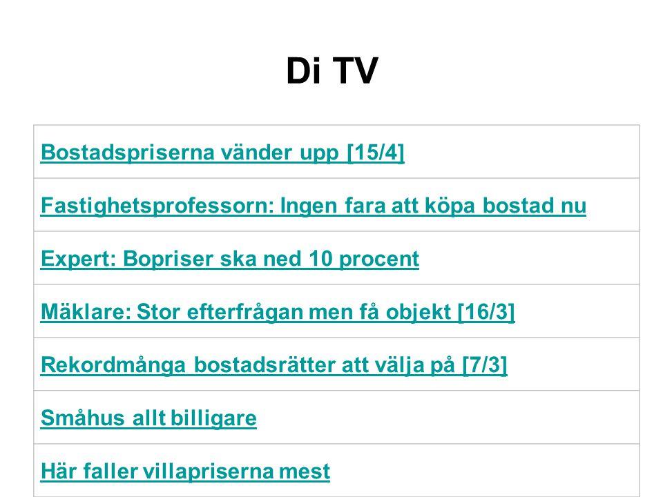 DiTV Expert: Bopriser ska ned 10 procentExpert: Bopriser ska ned 10 procent di.se Bostadspriserna vänder upp [15/4] Skandiabanken sänker boräntor [26/