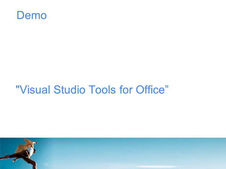 Demo Visual Studio Tools for Office