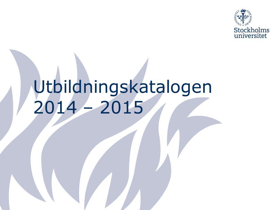2015-03-29 Dagordning Presentation av medverkande från Studentavdelningen Utbildningskatalogen Information från Antagningen SISU Övriga frågor