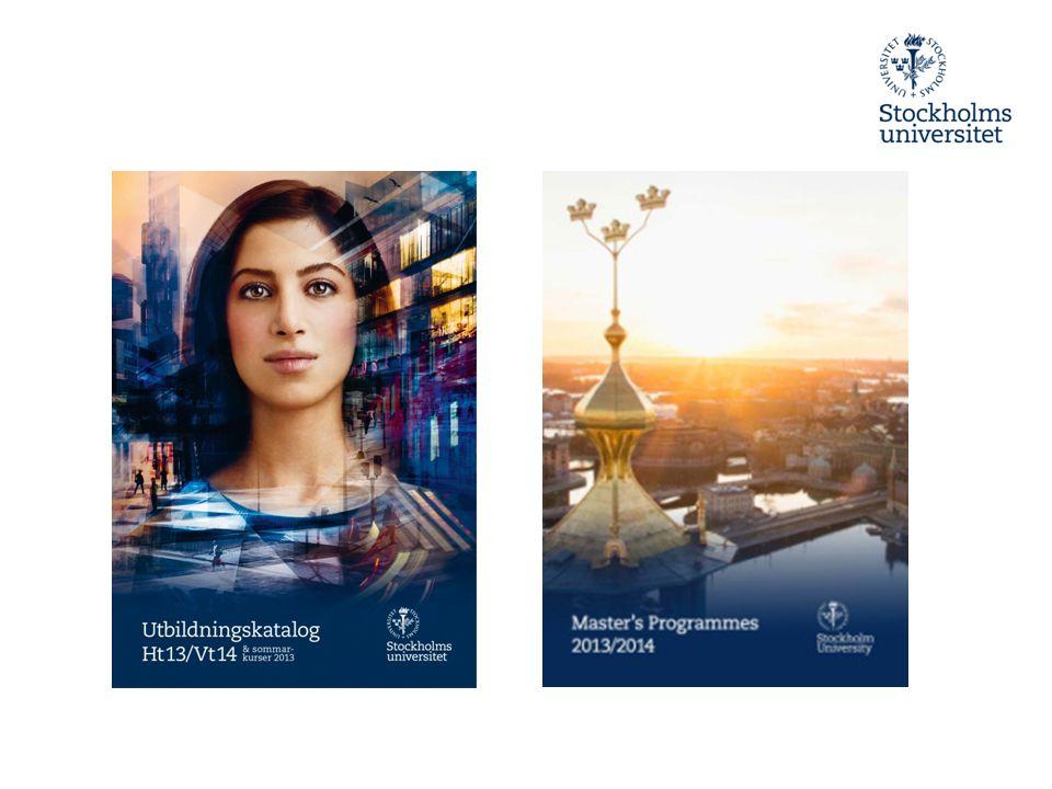 Masterbrochyren 2015-03-29 Internationella webbplatsen är huvudkanal när det gäller marknadsföring av masterprogrammen Den tryckta Masterkatalogen blir en 12-sidig broschyr Titlar på masterprogram är redan insamlade av fakultetsinformatörer Tillgänglig i oktober