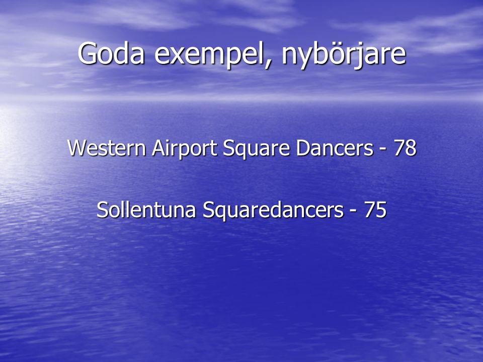 Goda exempel, nybörjare Western Airport Square Dancers - 78 Sollentuna Squaredancers - 75