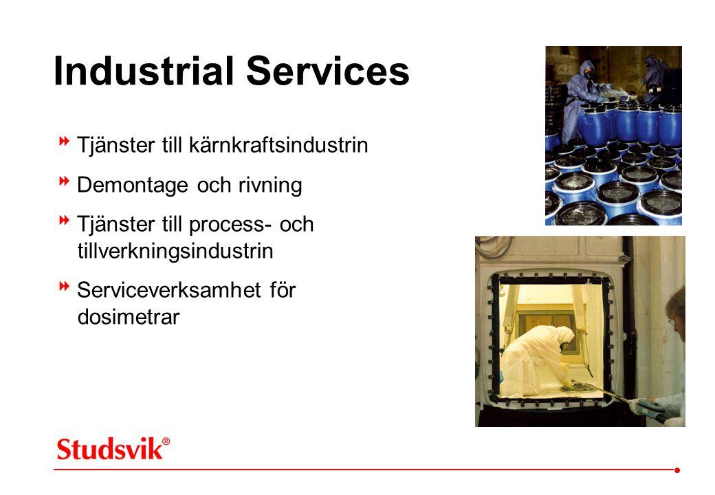 Industrial Services  Tjänster till kärnkraftsindustrin  Demontage och rivning  Tjänster till process- och tillverkningsindustrin  Serviceverksamhe