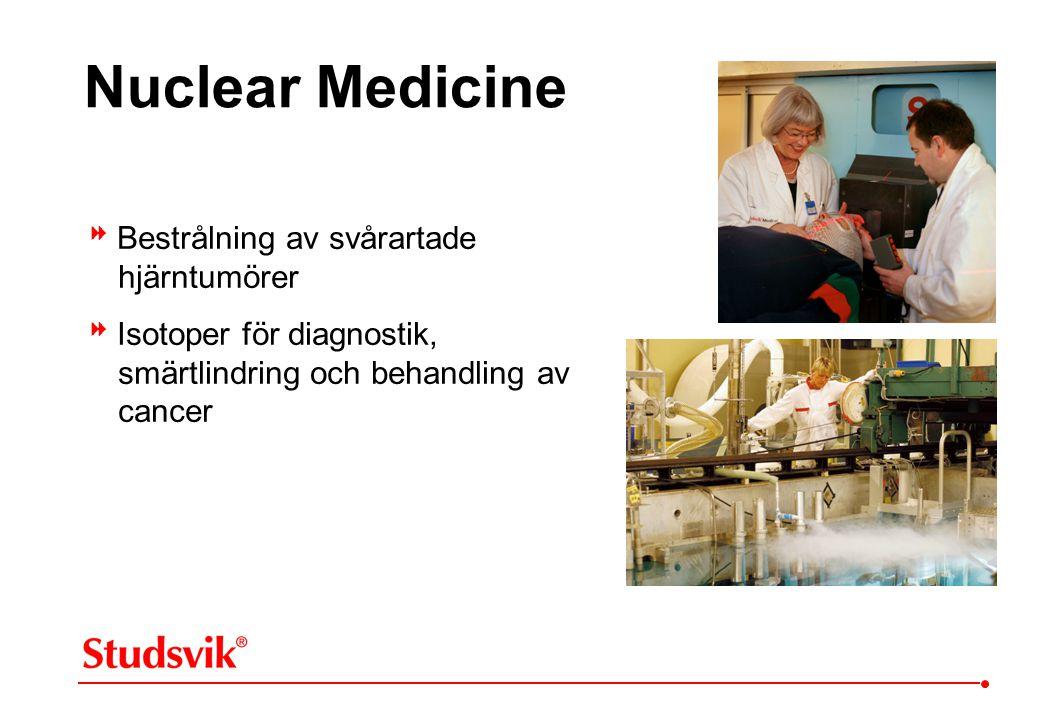 Nuclear Medicine  Bestrålning av svårartade hjärntumörer  Isotoper för diagnostik, smärtlindring och behandling av cancer