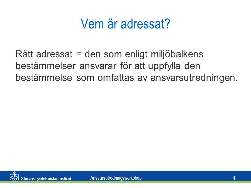 Ansvarsutredningsworkshop 4 Vem är adressat.