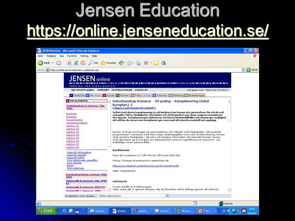 Jensen Education https://online.jenseneducation.se/ https://online.jenseneducation.se/