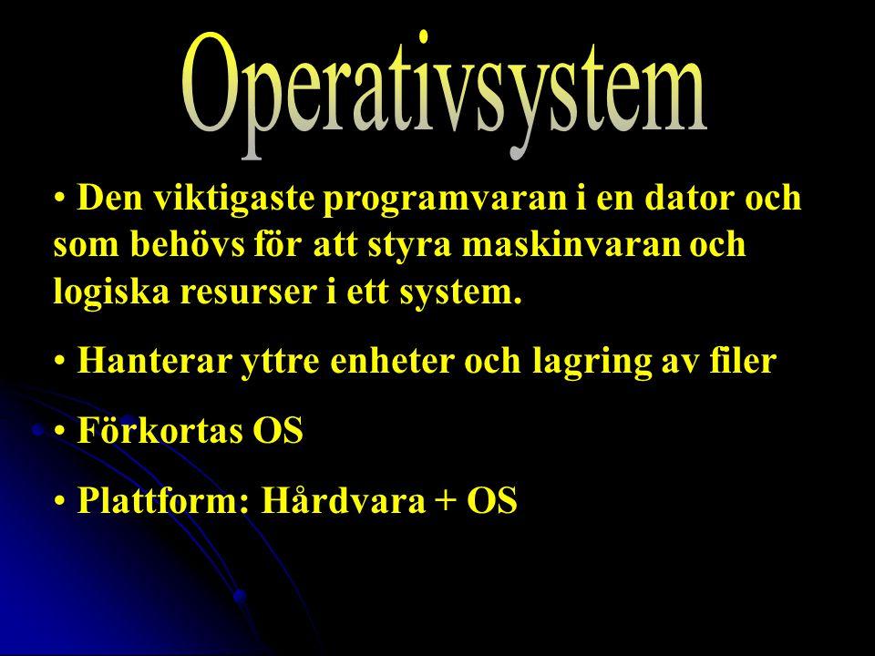 Den viktigaste programvaran i en dator och som behövs för att styra maskinvaran och logiska resurser i ett system.