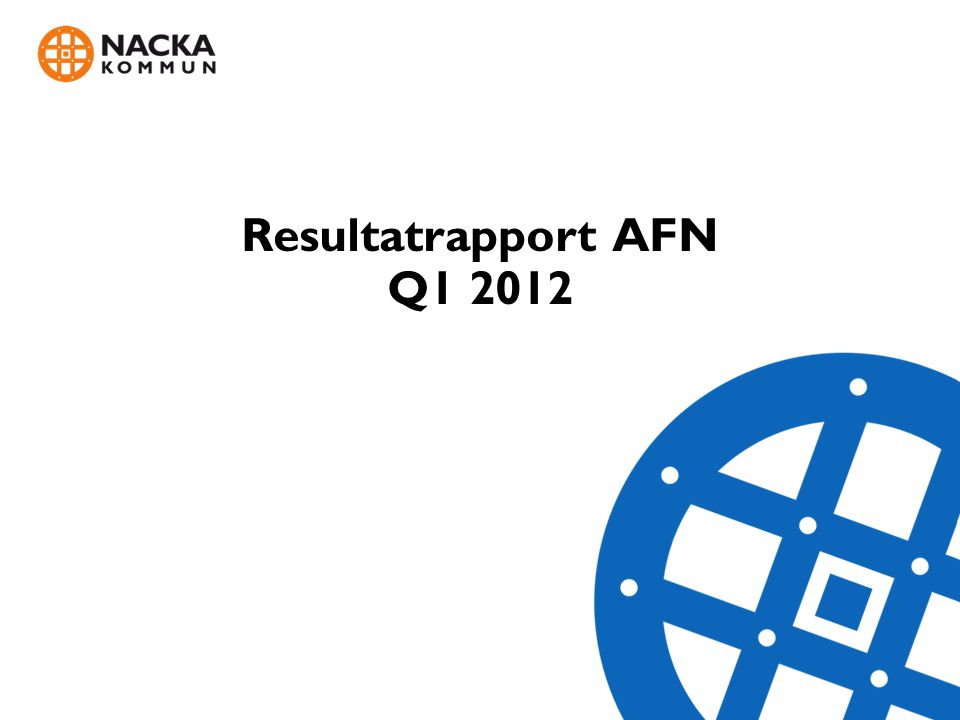 Resultatrapport AFN Q1 2012