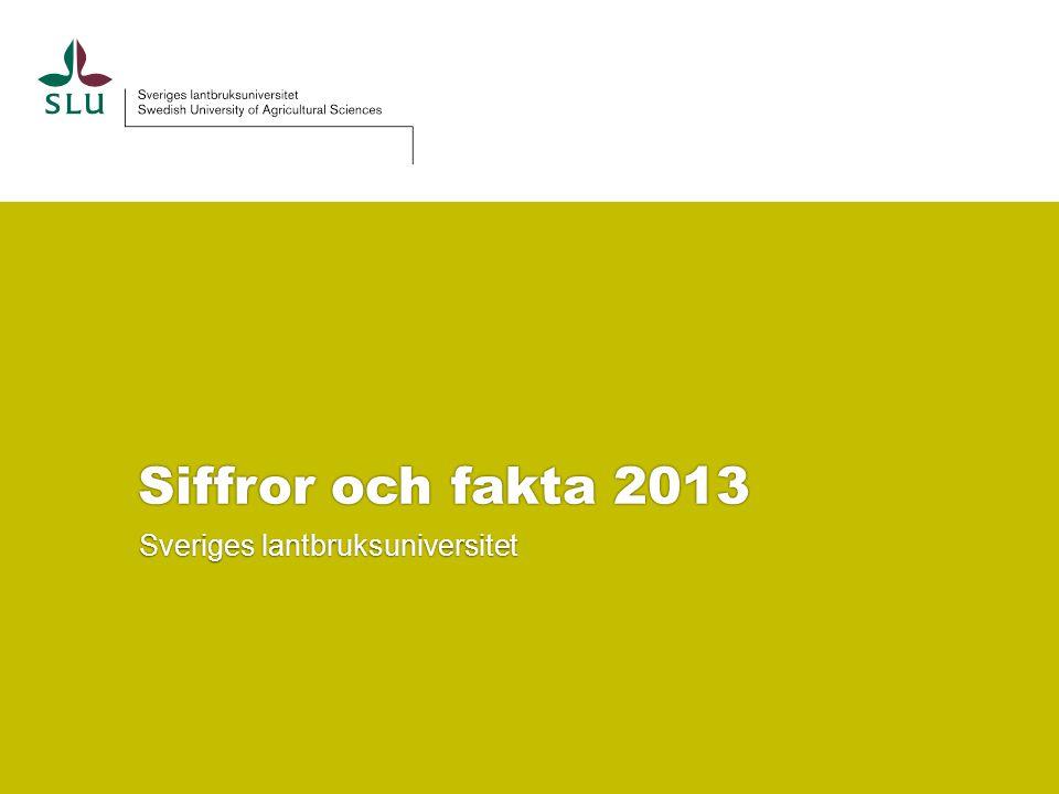 Siffror och fakta 2013 Sveriges lantbruksuniversitet