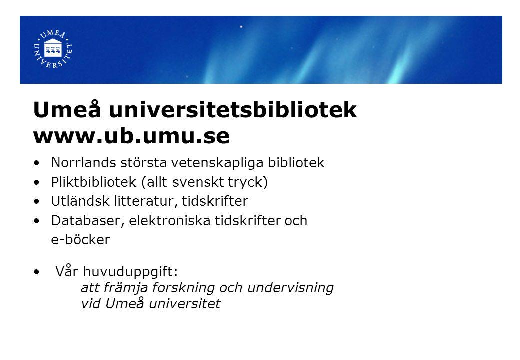 Album Böcker på Umeå UB Köa på utlånade böcker Förläng lån Adressändra