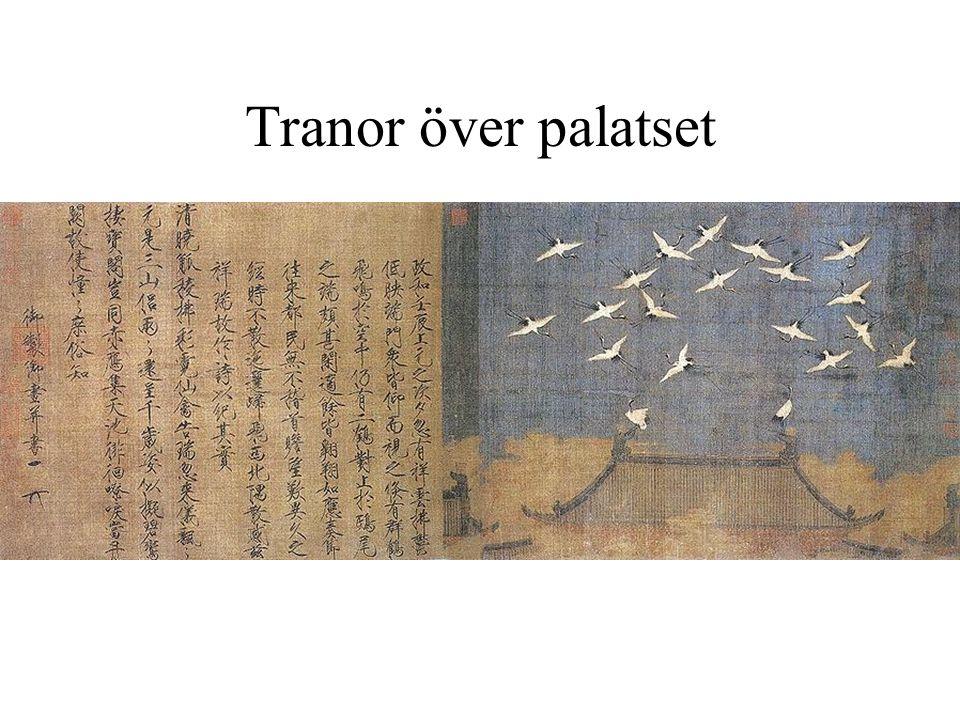 Tranor över palatset