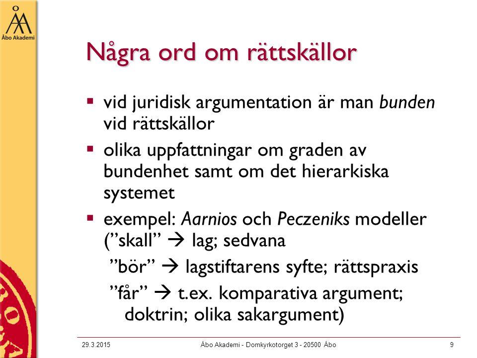 29.3.2015Åbo Akademi - Domkyrkotorget 3 - 20500 Åbo10 3.