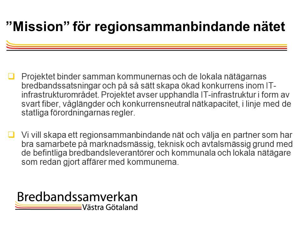 TietoEnator © 2003presentationPage 10 Mission för regionsammanbindande nätet  Projektet binder samman kommunernas och de lokala nätägarnas bredbandssatsningar och på så sätt skapa ökad konkurrens inom IT- infrastrukturområdet.