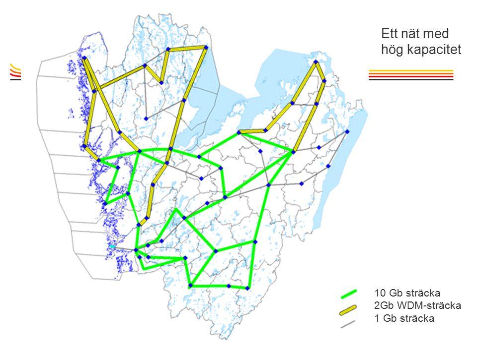 TietoEnator © 2003presentationPage 16 10 Gb sträcka 2Gb WDM-sträcka 1 Gb sträcka Ett nät med hög kapacitet