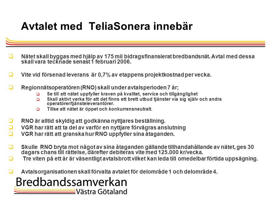 TietoEnator © 2003presentationPage 18 Avtalet med TeliaSonera innebär  Nätet skall byggas med hjälp av 175 mil bidragsfinansierat bredbandsnät.