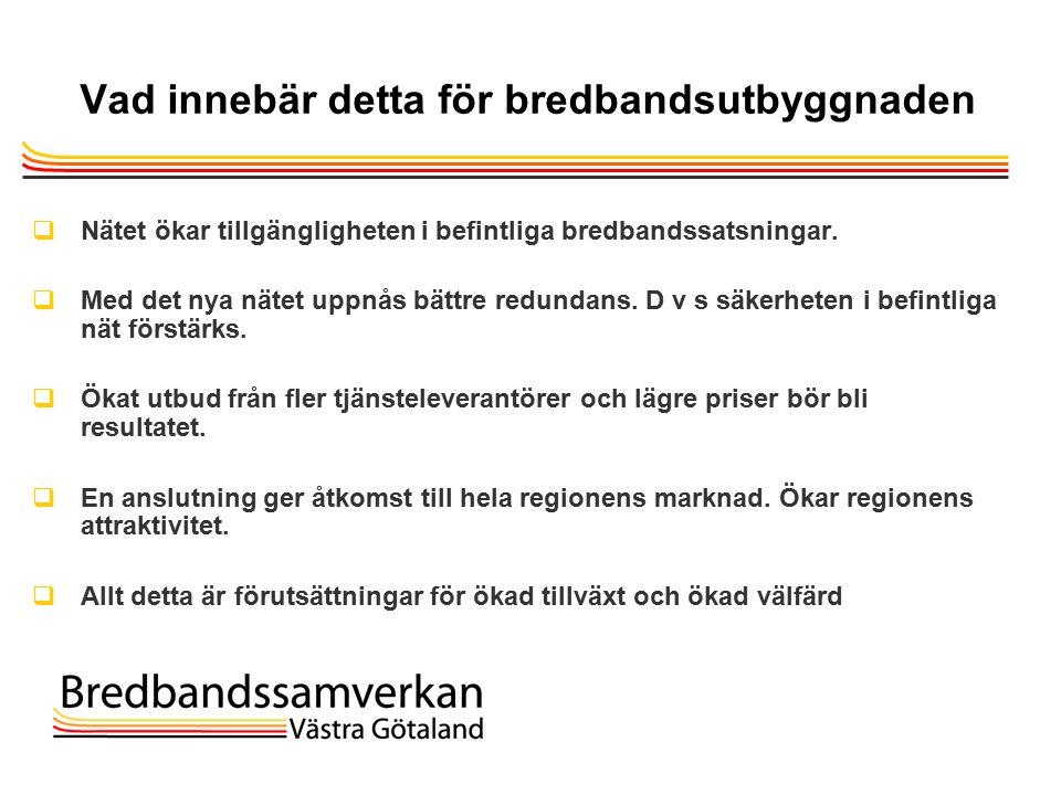 TietoEnator © 2003presentationPage 19 Vad innebär detta för bredbandsutbyggnaden  Nätet ökar tillgängligheten i befintliga bredbandssatsningar.