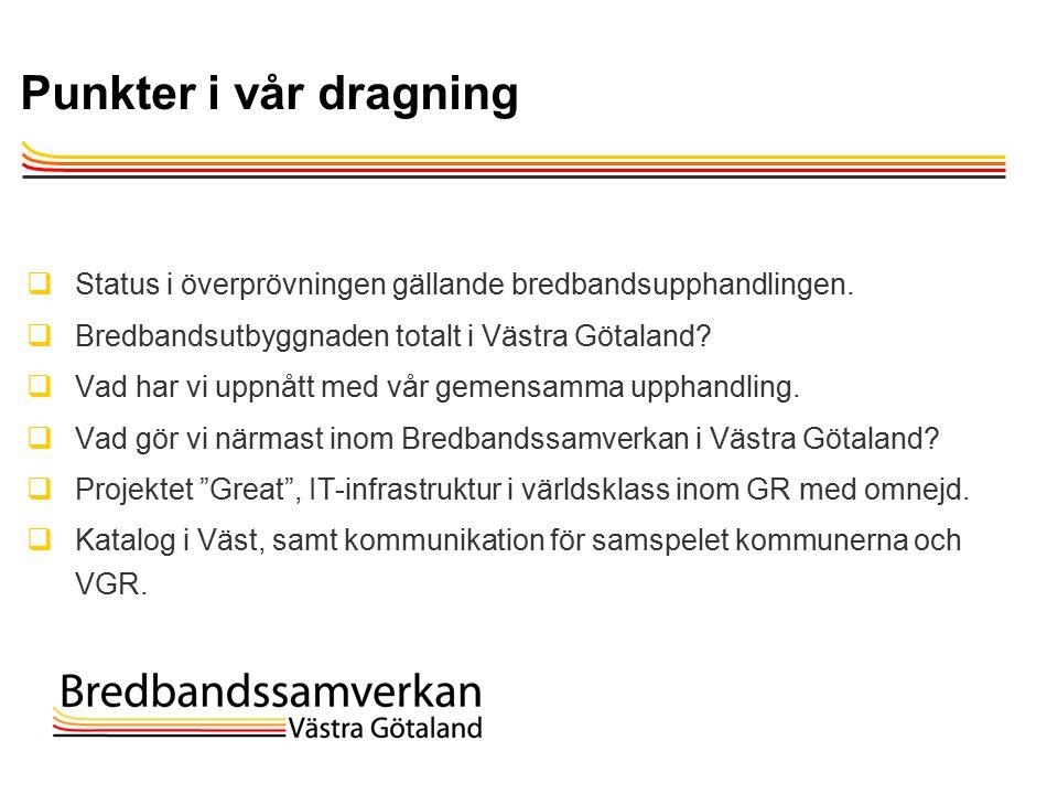TietoEnator © 2003presentationPage 2 Punkter i vår dragning  Status i överprövningen gällande bredbandsupphandlingen.
