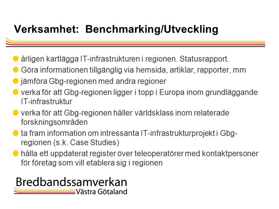 TietoEnator © 2003presentationPage 23 Verksamhet: Benchmarking/Utveckling  årligen kartlägga IT-infrastrukturen i regionen.