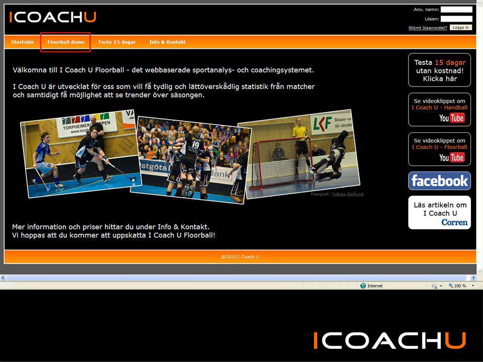 Bakgrund: Bolaget grundades i oktober 2009 för att utveckla och marknadsföra det webbaserade analys- och coachingsystemet I Coach U Floorball och Handball.
