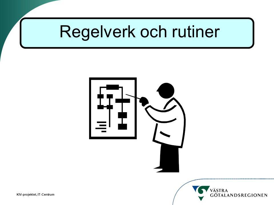 KIV-projektet, IT-Centrum Regelverk och rutiner