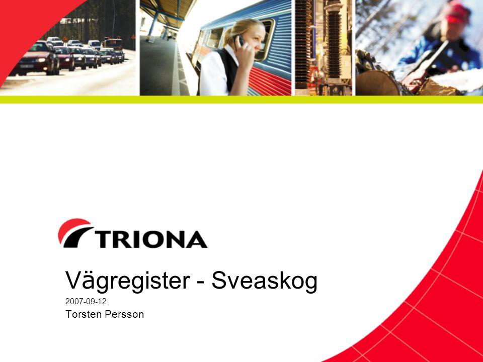 V ä gregister - Sveaskog 2007-09-12 Torsten Persson