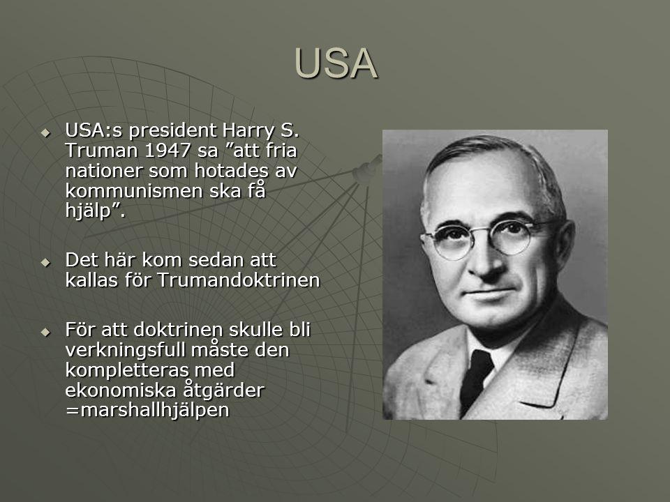 USA  USA:s president Harry S.