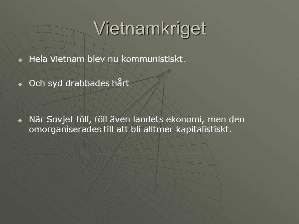 Vietnamkriget HHela Vietnam blev nu kommunistiskt.