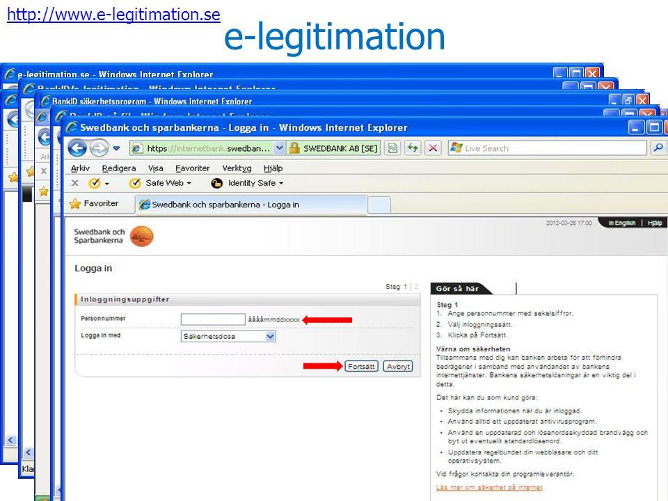 e-legitimation http://www.e-legitimation.se
