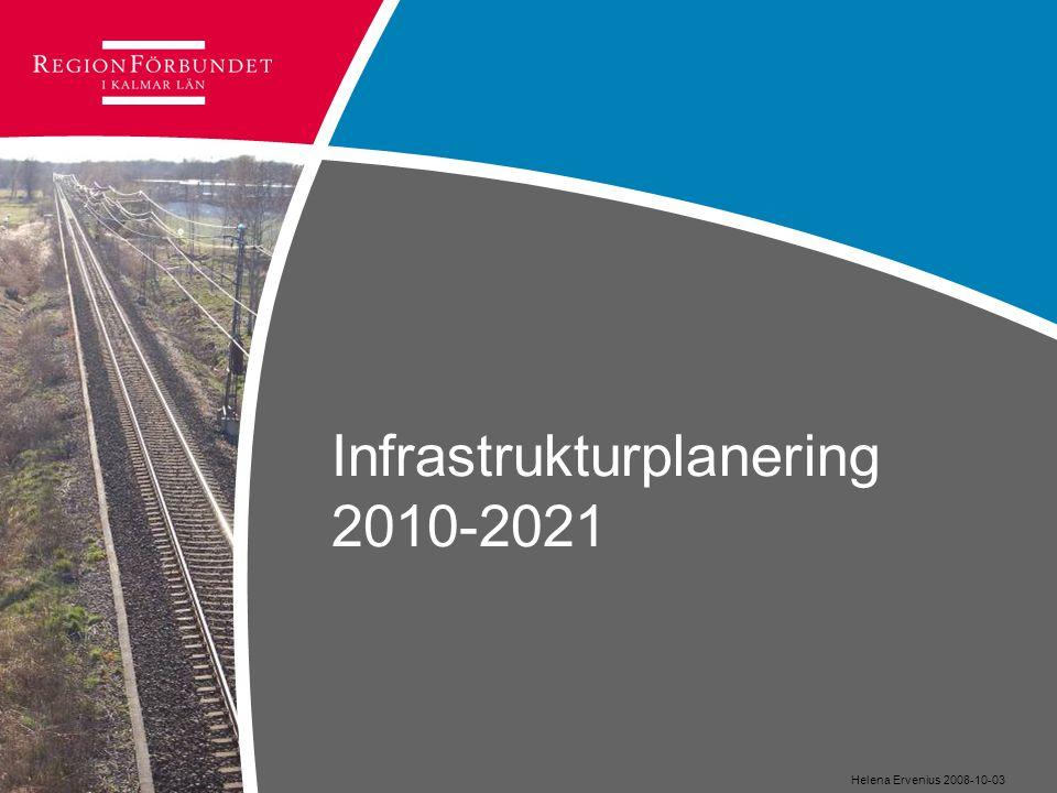 Infrastrukturplanering 2010-2021 Helena Ervenius 2008-10-03