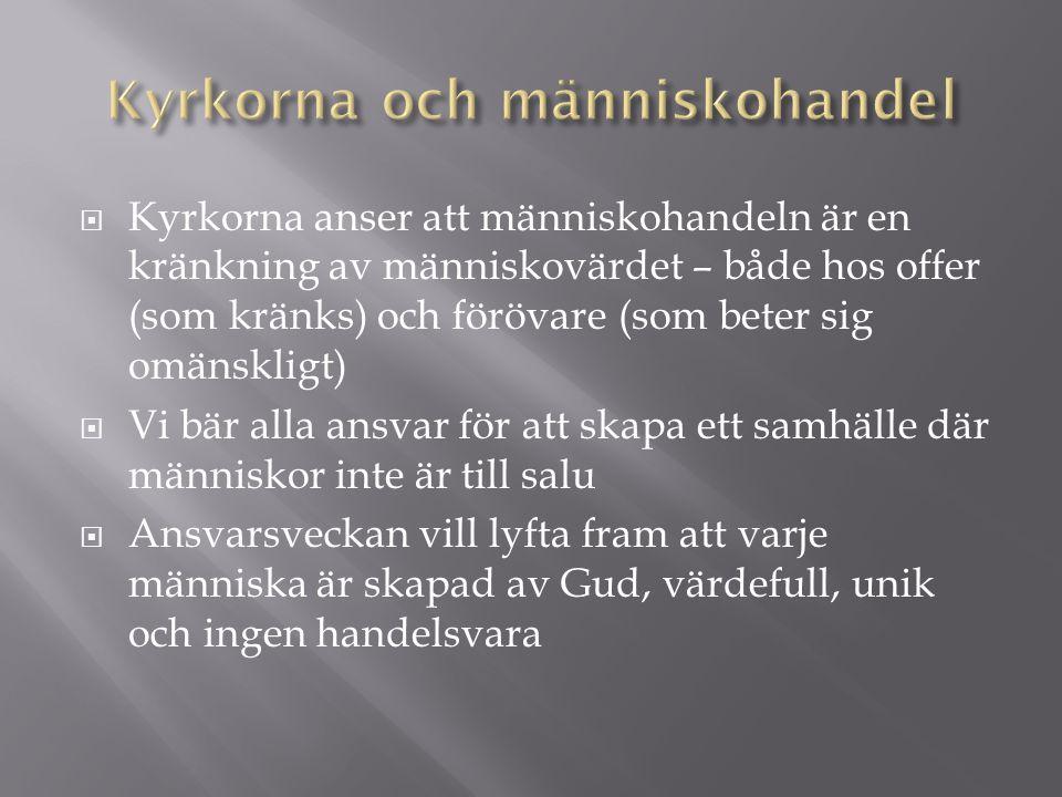  Människohandeln berör också Finland och finländare.