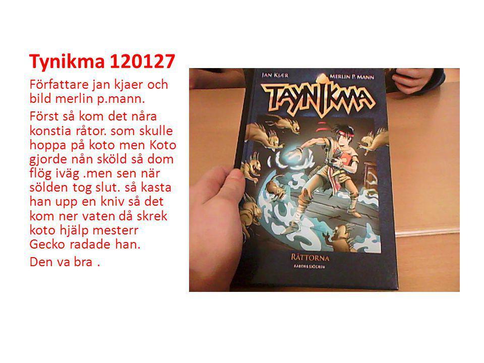 Tynikma 120127 Författare jan kjaer och bild merlin p.mann.