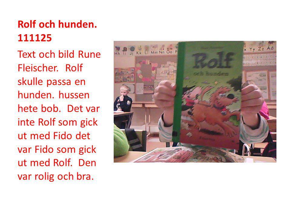 Rolf och hunden. 111125 Text och bild Rune Fleischer.