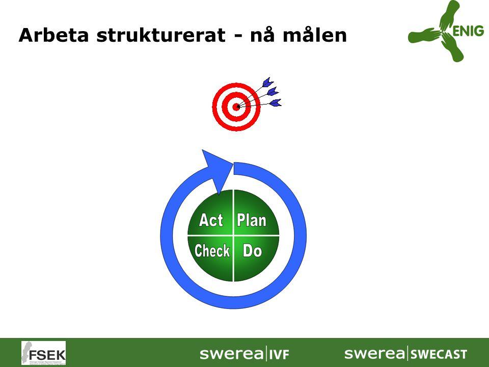 Arbeta strukturerat - nå målen